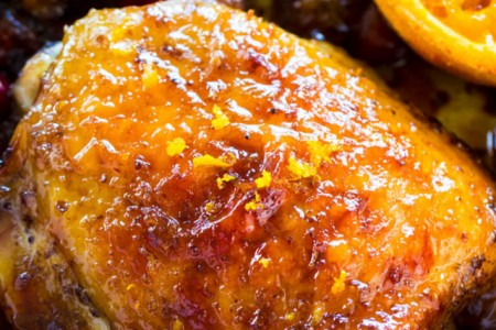 Sunshine Grilled Chicken with Cranberry Orange Glaze